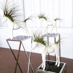 """Horse Planters ;couldnt decide ..should I pin this under horses or """"Giggle"""".? Available for purchase from Plant The Future."""