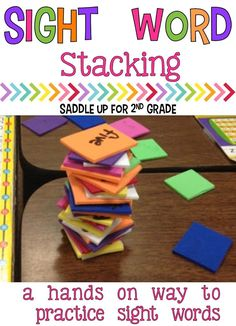 Sight Words are so important for children to learn. Sight Word Stacking is a fun, hands on game for children to practice their sight words. It is a class favorite for sure! Teaching Sight Words, Sight Word Practice, Sight Word Games, Word Work Games, Second Grade Sight Words, Word Bingo, Fluency Practice, Kindergarten Reading, Teaching Reading