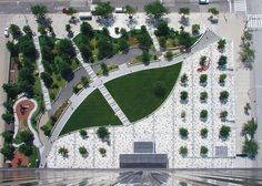 OLIN'S REDESIGN OF ANTHONY J. CELEBREZZE FEDERAL BUILDING PLAZA IN CLEVELAND.