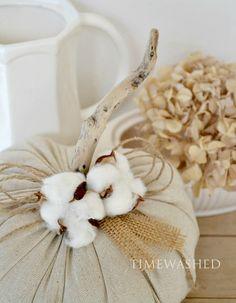 Cotton on pumpkins Cotton Fields, Pumpkin Crafts, Shades Of White, Fall Diy, Fall Harvest, Handmade Flowers, Fall Halloween, Neutral, Home And Garden