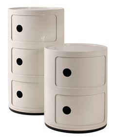white compinibili storage units by kartell at ABC Home from $120
