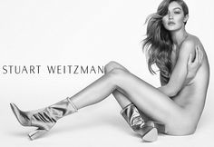 Face of the brand:On Wednesday, Gigi revealed her new campaign for Stuart Weitzman Spring...