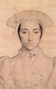 Ганс Гольбейн младший (1497-1543), Portrait of an Unidentified Woman. c.1535