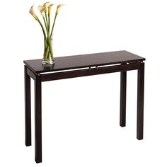 Winsome Wood 92730 - Linea Console/ Hall Table with Chrome Accent | Sale Price: $93.35
