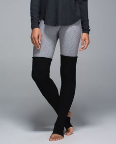 From the dance studio to the yoga studio to the street these thigh-high leg warmers make us feel Fame-ous. We made them with sweat-wicking Merino Wool for warm-ups in chilly studios and an articulated knee that bends with our plies pirouettes and pigeon poses. (Cue theme song...)
