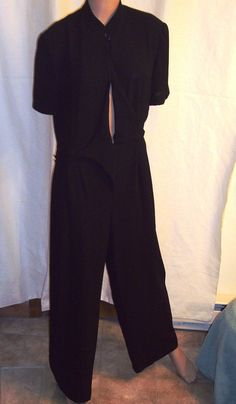 DW3 for David Warren Vintage 1980s Dressy Black by outoftheattic2u