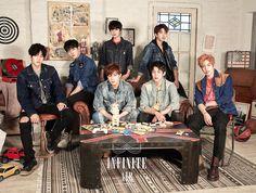 """Infinites """"Air"""" japanese album soon. Album, Kim Myungsoo, Kim Sung Kyu, Woollim Entertainment, Happy Endings, Kpop Boy, Infinite, Trending Memes, Boy Bands"""