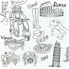 Italy doodles