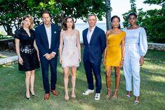 "Léa Seydoux and Cast at the ""Bond Film Launch, on April 2019 in Montego Bay, Jamaica. Daniel Craig, Female 007, Casino Decorations, James Bond Movies, Casino Party, Casino Games, Montego Bay, British Actresses, Bridesmaid Dresses"