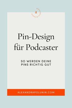 Pinterest ist eine visuelle Suchmaschine, deswegen ist das Pindesign besonders wichtig. Als Podcaster hast du oft kein eigenes Bildmaterial. Wie du trotzdem schöne und für deine Zielgruppe ansprechende Pins für deine Podcast-Episoden erstellen kannst, verrät Beatrix Stürzer jetzt auf dem Blog. Außerdem hat sie viele Beispiel-Pins erfolgreicher Podcaster mitgebracht. Podcast erstellen   Podcast Marketing   Reichweite steigern #alexandrapolunin Pinterest Marketing, Content Marketing, Blog, Design, Target Audience, Concept, Tips, Nice Asses