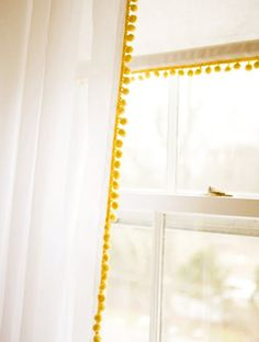 Pom pom curtains-----Going in my bedroom TOMORROW!!!!!! weeee heeee.