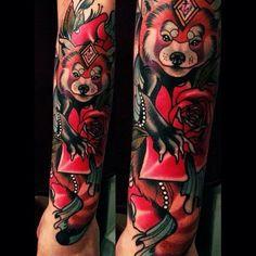 Red Panda Tattoo by Brando Chiesa