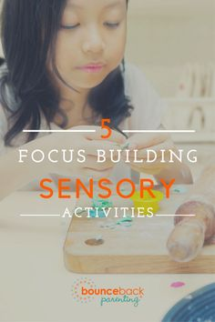 Help kids focus with these sensory activities!