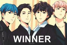 Winner Teaser #fanart #anime #yoon #hoony #jinu #mino