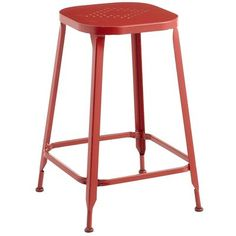 Weldon Backless Counter Stool - Red