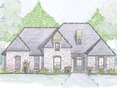 French Country Style 1 story 3 bedrooms(s) House Plan with 2233 total square feet and 2 Full Bathroom(s) from Dream Home Source House Plans