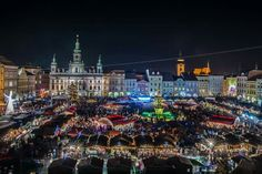 Christmas market in České Budějovice (South Bohemia), Czechia Protestant Reformation, Heart Of Europe, Central Europe, Czech Republic, Prague, Empire State Building, Old Town, My Images, Countryside
