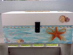 Nautical Beach theme wedding Card box/Hand by   NauticalWeddings NauticalWeddings on Etsy.com $64.  Check this shop out. AWSOME 6/29/15**********