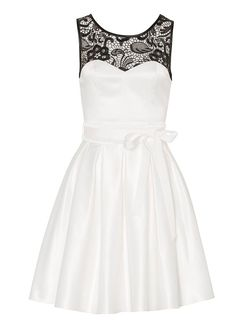 Audrina Dress-Cream/Black