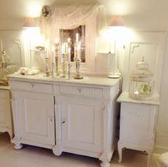 My shabby chic, white, romantic home