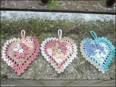 Made by Deni: SRDÍČKO MÁNIE Crochet Earrings, Appliques, Flowers, Jewelry, Fashion, Riveting, Moda, Jewlery, Wall Lamps
