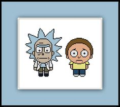 Cross stitch pattern of Rick and Morty based on their appearancesin the game Pocket Mortys. Its not the actual sprite, but a simplified version that would look great in Perler beads. Download the …