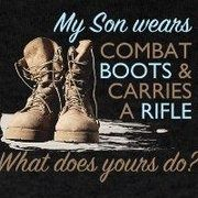 "This is dedicated to the guy that ask me ""your son joined the military I wish he would've done something with his life."" My reply: My son is fighting for our freedom and your son is partying in college. Hmmm that is doing something with his life. Army Mom Quotes, Military Quotes, Military Mom, Son Quotes, Marine Quotes, Military Honors, Qoutes, Proud Of My Son, Proud Mom"