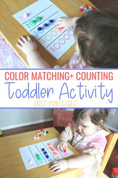 ) – Little Learning Club Color Matching + Counting Activity (Printable Included!) – Little Learning Club,Montessori rooms and toys Color Matching + Counting Activity (Printable Included! Sensory Activities Toddlers, Outdoor Activities For Kids, Counting Activities, Kids Learning Activities, Infant Activities, Sensory Play, Toddler Learning Games, 3 Year Old Montessori Activities, Day Care Activities