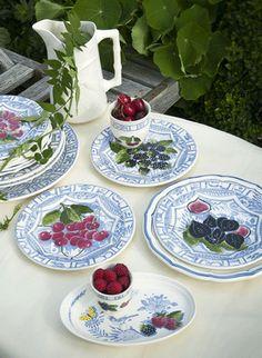 Oiseau bleu fruits Isabelle de Borchgrave pour Gien
