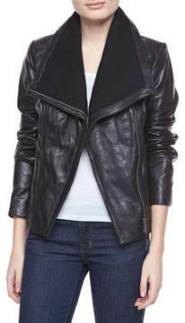 0fc98d3fc4ae MICHAEL Michael Kors Asymmetric Leather Jacket on shopstyle.com Michael  Kors Jackets