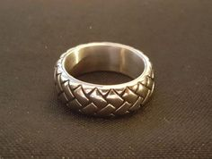 Mens stainless steel thick tread ring #WorldSterlings