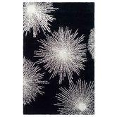 Safavieh Handmade Soho Burst Black New Zealand Wool Rug - X X - Black/White) (Cotton, Abstract) Soho, Black White Rug, Color Black, Colour, Regal Design, Modern Design, Clean Design, Geometric Circle, Hand Tufted Rugs