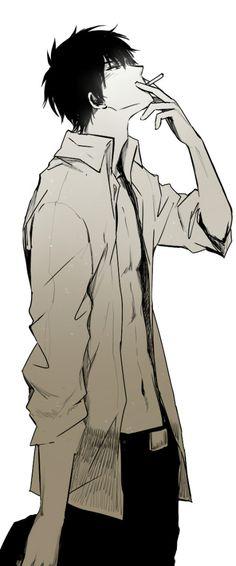 Tags: Anime, Gin Tama, Open Shirt, Smoking, Hijikata Toushirou, Feiqiuxuan