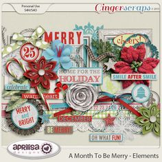 GingerScraps :: Embellishments :: A Month To Be Merry Elements by Aprilisa Designs