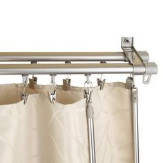 Lovely Regal Silver Adjustable Double Curtain Track Set | Overstock.com, Living  Room U0026 Sliding