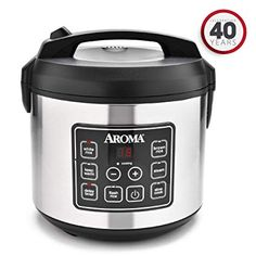 Aroma Housewares 20 Cup Cooked 10 cup uncooked Digital Rice Cooker Slow Cooker Food Steamer SS Exterior ** Continue to the product at the image link. (This is an affiliate link) Smart Kitchen, Kitchen Time, Kitchen Dining, Kitchen Small, Aroma Rice Cooker, Best Rice Cooker, Small Rice Cooker, Electric Wok, Electric Cooker