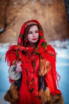 Bunt Slawisch Russisch Folk Retro Schal Neu Winter Sammlung