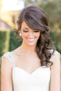 Medium Length Curls Wedding Hairstyles