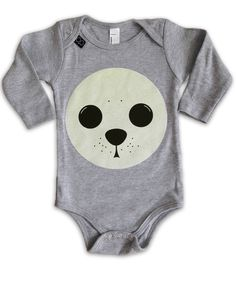 Baby onesie GLOWING SEAL Baby Onesie, Onesies, Lemur, Seal, Kids, Clothes, Collection, Baby Overalls, Young Children