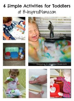 How do you keep your toddler busy? Here are 6 simple things to do with toddlers from the Weekly Kids Co-Op at B-InspiredMama.com.