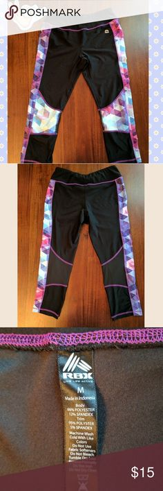 RBX activewear capri These Capri style workout pants have only been worn once. They are very stretchy and comfortable. RBX Pants Capris
