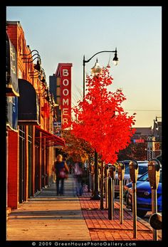 Norman in the fall.... Campus Corner, Football Saturdays, and shows at the Sooner Theater!
