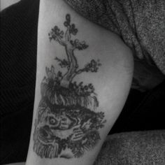 My tattoo drawn by Chad Vangaalen from his Black Mould cd.