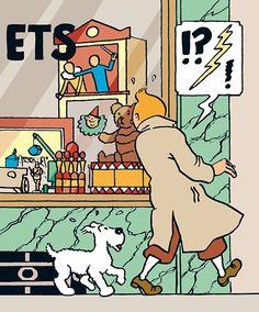 BBC Arts - BBC Arts - Strip of a lifetime: The enduring appeal of Tintin Molly Hooper Sherlock, Watson Sherlock, Sherlock John, Cartoon Familie, Tin Tin Cartoon, Durham Museum, Herge Tintin, Sherlock Holmes Benedict Cumberbatch, Lucky Luke