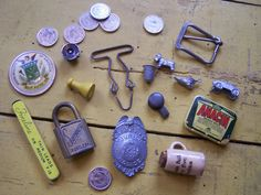 Vintage  Group of Unique Trinkets and Parts  by ShaneLilyRain