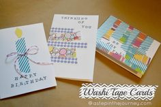 A Step in the Journey: Washi Tape Cards