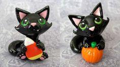 Halloween Kitties by DragonsAndBeasties.deviantart.com on @deviantART