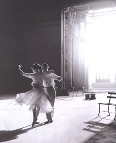Fred Astaire & Audrey Hepburn rehearsing for Funny Face (1957). Photographed by Richard Avedon.