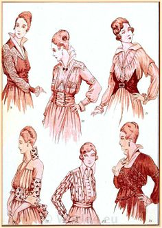 fashion blouses | French vintage haute couture costumes.
