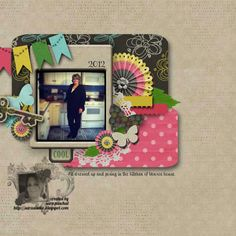 Sara's Creative Adventures digital scrapbook page using products from DHD.  #digital scrapbooking #scrapbooking #photoshop